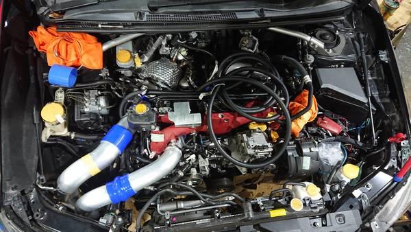 VAB WRX-STI EJ20SPLエンジンを車載!