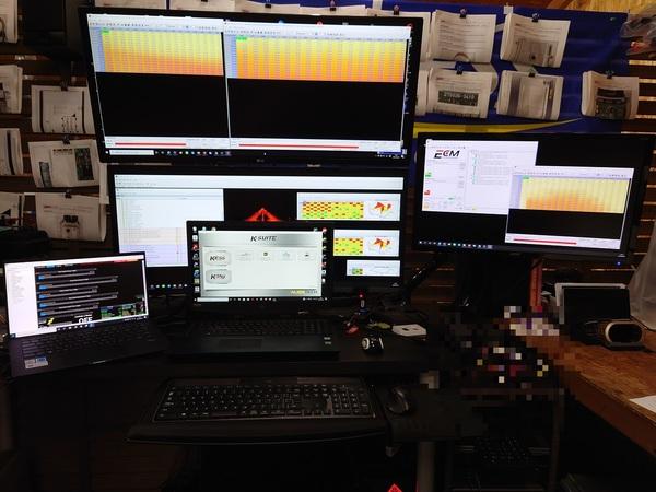 ECUデーター編集全開!同時3車種+LINK G4Xの為にPC追加