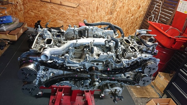 86 ZN6 FA20のリコール作業エンジン再組付け
