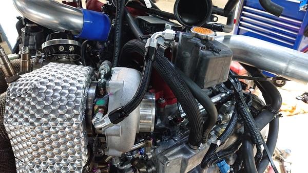 VAB WRX-STI EJ20SPL-E/G車載前のタービン周りの配管処理