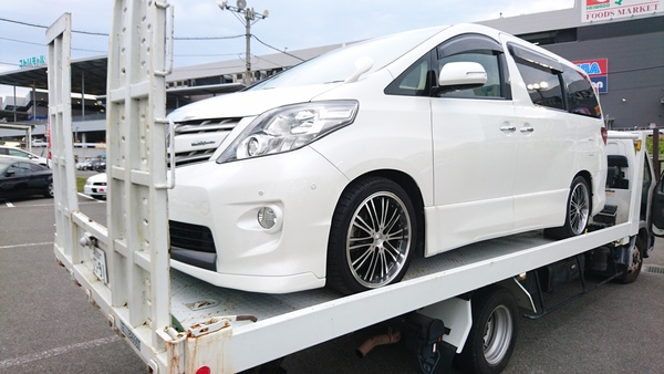 GGH20アルファード スーパーチャージャー取付の為 車両を準備!