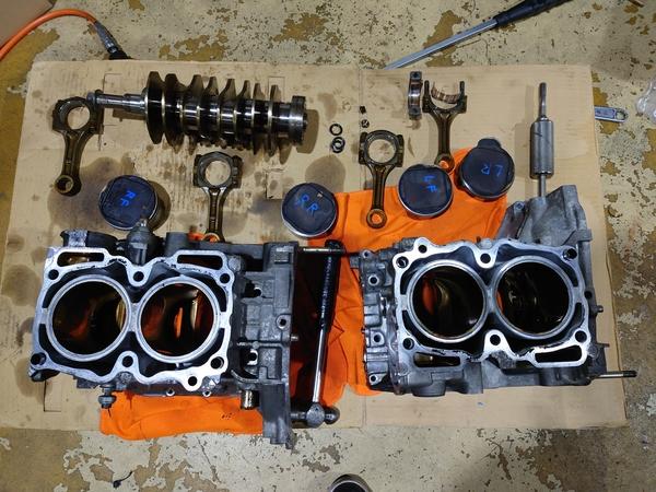 GC8 インプレッサSTI-Ver4 EJ20Kエンジンオーバーホール!